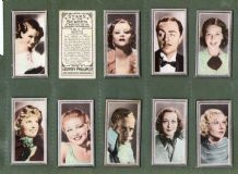 Cigarette cards Film Stars set,Ginger Rogers, Shirley Temple,  j.Crawford